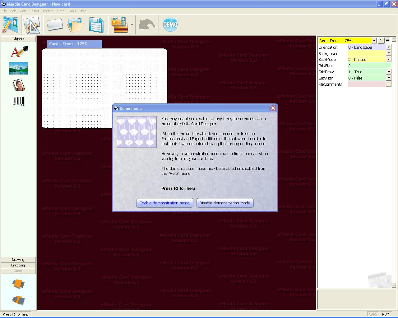 How To Exit Demo Mode In Evolis Emedia Software Transtech Systems Inctranstech Systems Inc