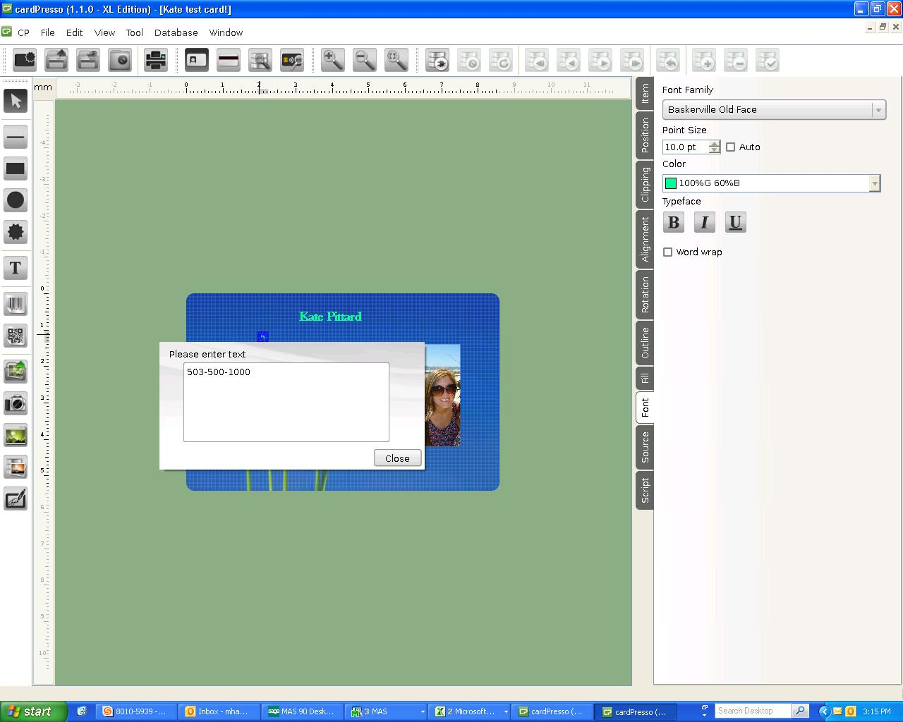Cardpresso Adding Text Transtech Systems Inctranstech Systems Inc