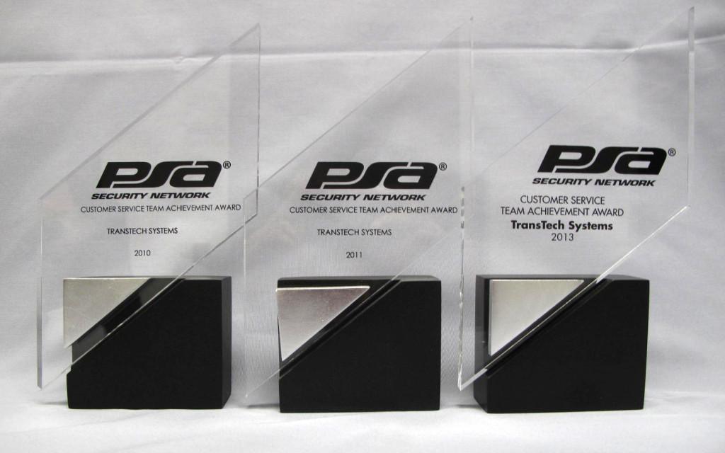 TransTech wins 2013 PSA Customer Service award